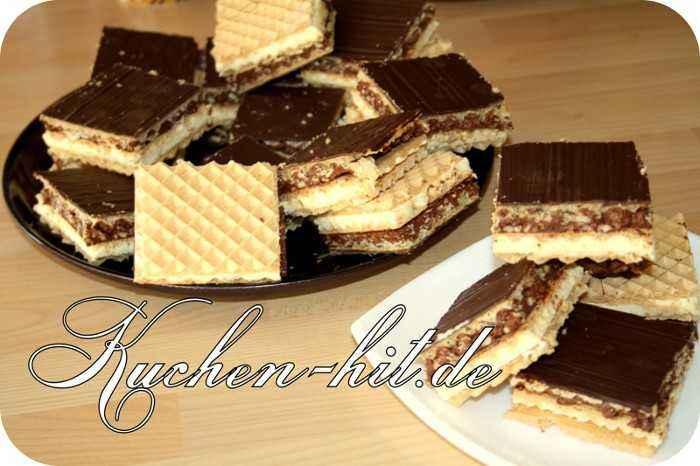 rezept f r eine haselnussschnitte mit einer milch nougat creme kuchen. Black Bedroom Furniture Sets. Home Design Ideas