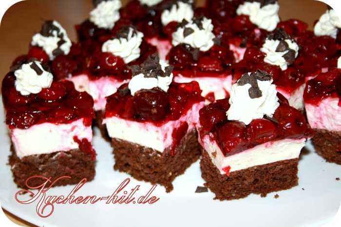 Kirsch Quark Kuchen Rezept Kuchen Hit De