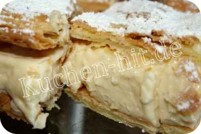 napoleonschnitte rezept kuchen mit creme. Black Bedroom Furniture Sets. Home Design Ideas