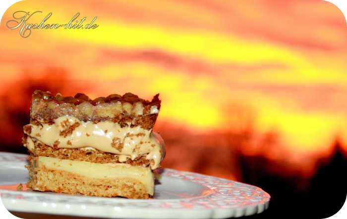 Karamell Kuchen Rezept Ein Honigkuchen Mit Puddingcreme