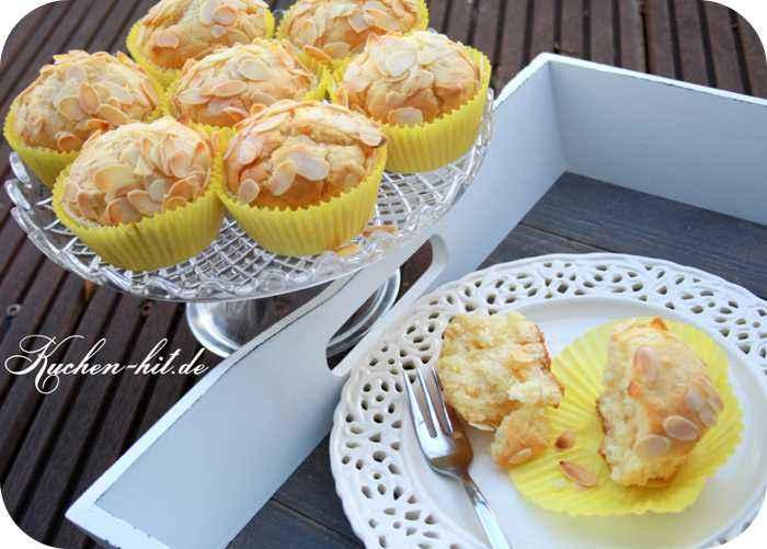 marzipan muffins rezept mit knusprigen mandelbl ttern kuchen. Black Bedroom Furniture Sets. Home Design Ideas