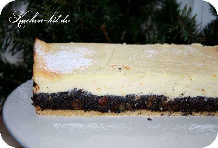 Mohn Käsekuchen Rezept aus Mürbeteig
