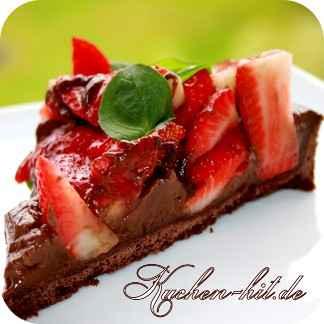 Schokoladen Tarte Mit Erbeeren Kuchen Hit De