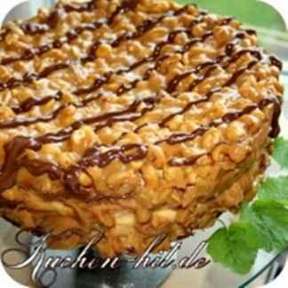 Karamell Kuchen Mit Quark Und Erdnussen Kuchen Hit De