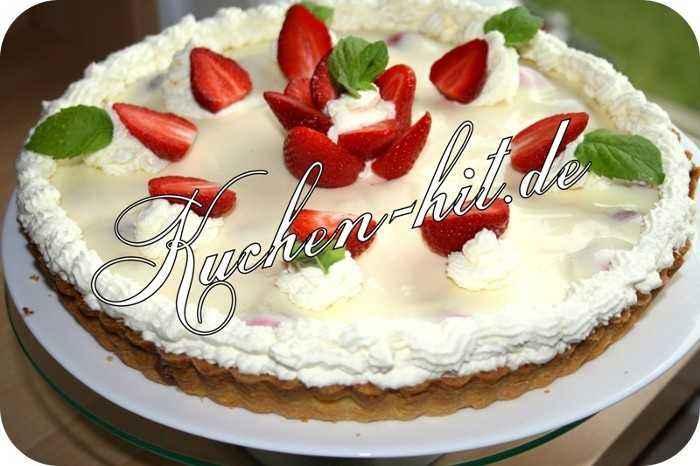 rezept f r eine tarte mit erdbeeren und vanillepudding kuchen. Black Bedroom Furniture Sets. Home Design Ideas