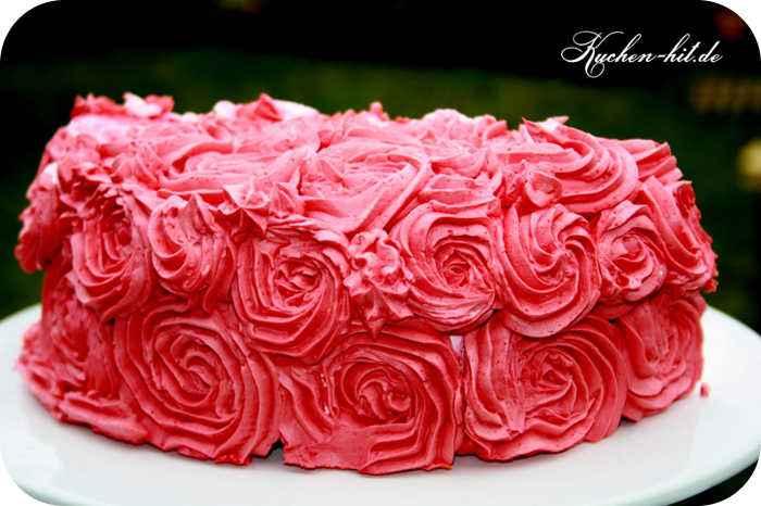 Valentinstag Torte Mit Swiss Meringue Buttercream Kuchen Hit De