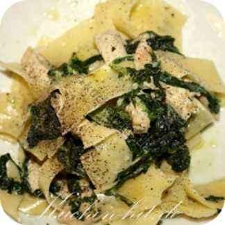 Hähnchen Spinat Pasta