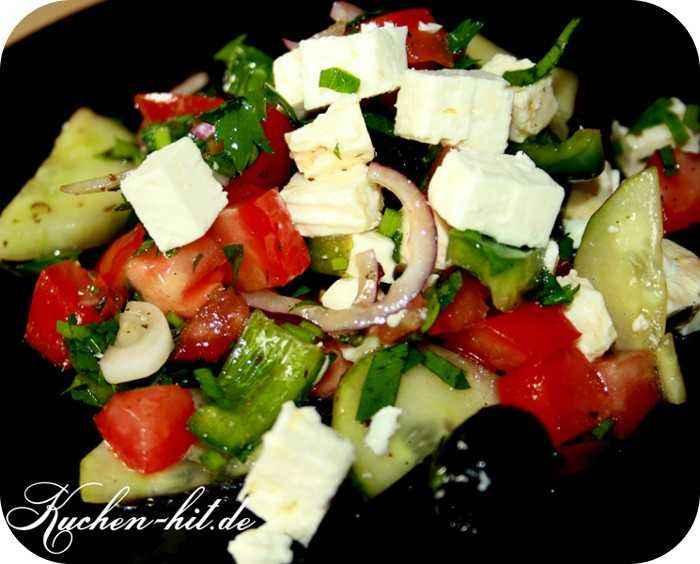 griechischer salat mit feta rezept. Black Bedroom Furniture Sets. Home Design Ideas
