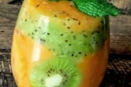 kaki kiwi dessert
